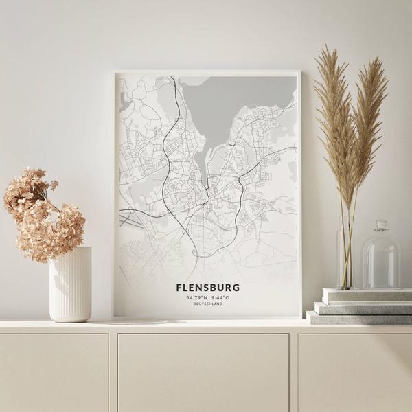 City-Map Flensburg im Stil Elegant