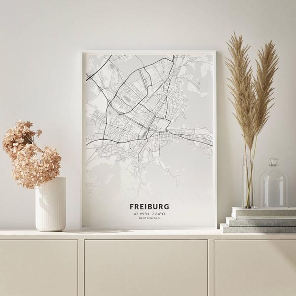 City-Map Freiburg im Stil Elegant