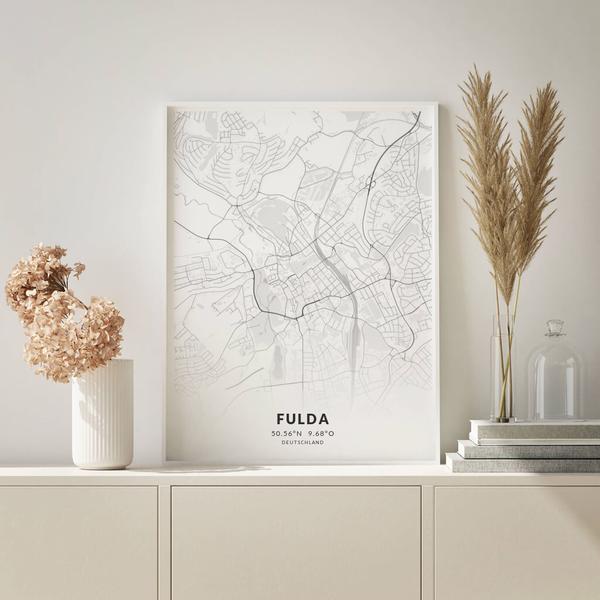 City-Map Fulda im Stil Elegant