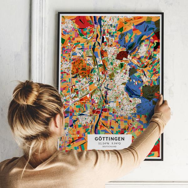 City-Map Göttingen im Stil Kandinsky