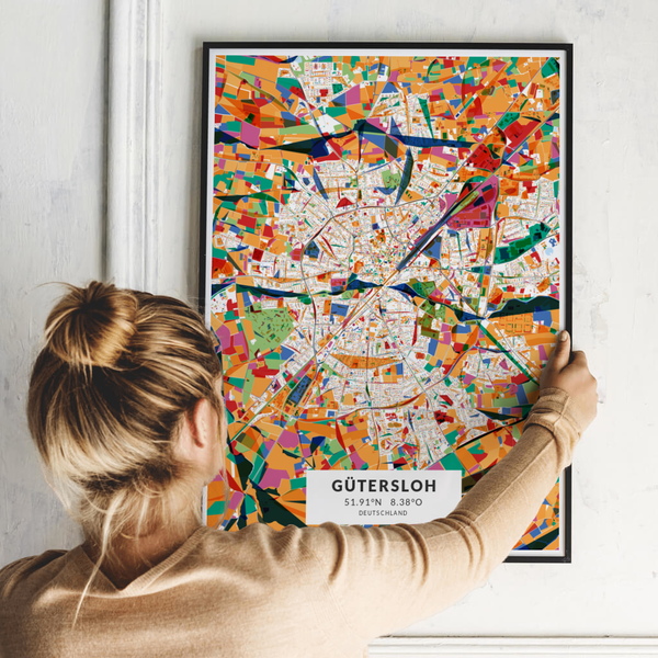 City-Map Gütersloh im Stil Kandinsky