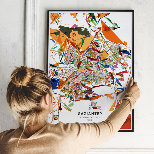 City-Map Gaziantep im Stil Kandinsky
