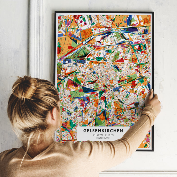 City-Map Gelsenkirchen im Stil Kandinsky