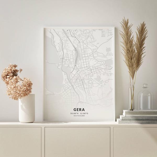 City-Map Gera im Stil Elegant