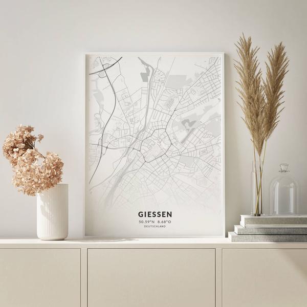 City-Map Gießen im Stil Elegant
