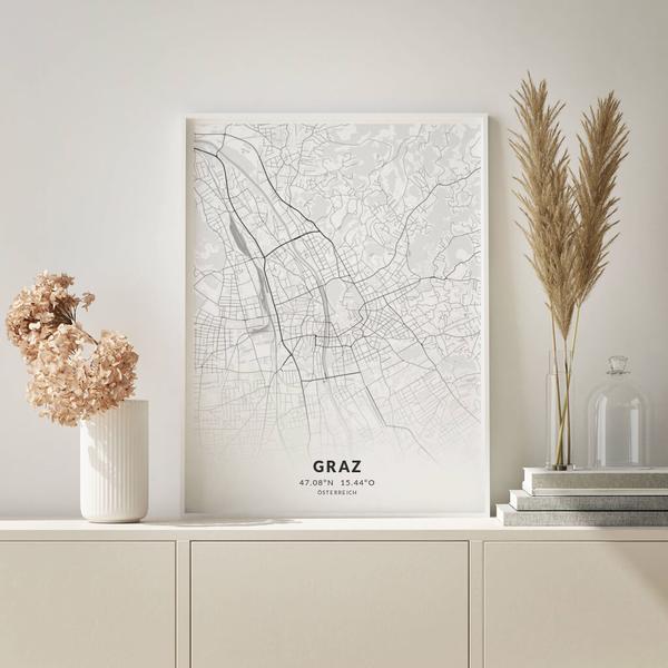City-Map Graz im Stil Elegant
