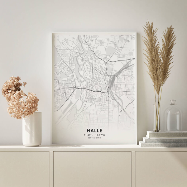 City-Map Halle im Stil Elegant