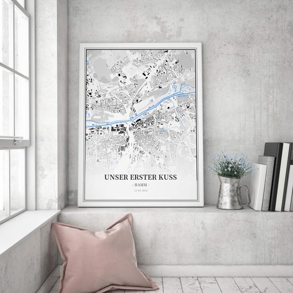 Stadtkarte Hamm im Stil Schwarzplan