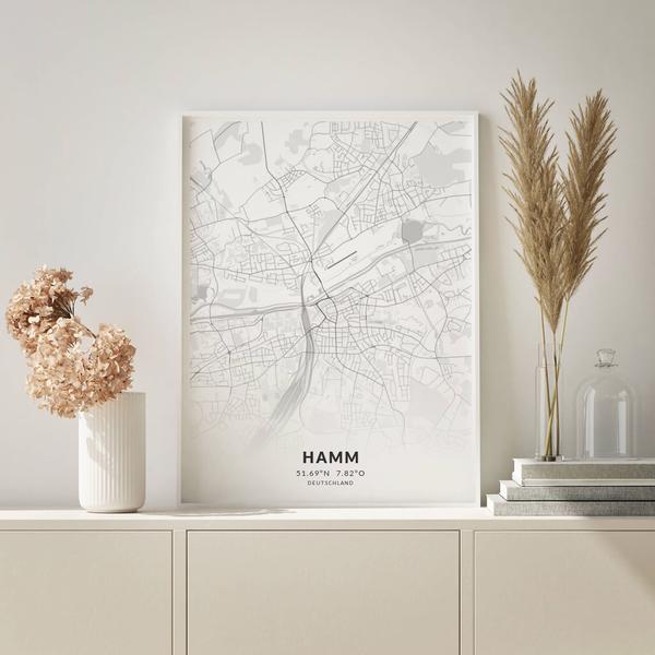 City-Map Hamm im Stil Elegant