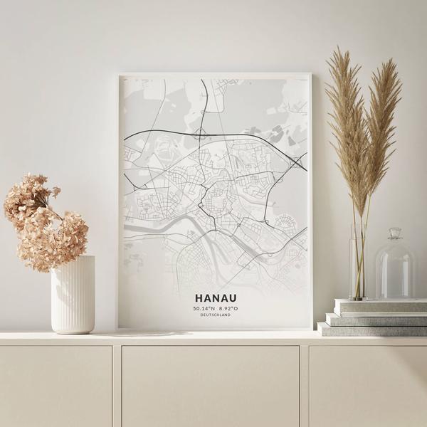 City-Map Hanau im Stil Elegant