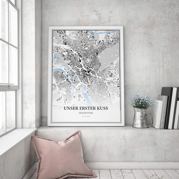 Stadtkarte Hannover im Stil Schwarzplan