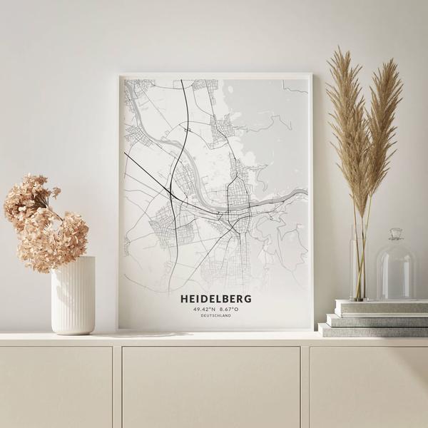 City-Map Heidelberg im Stil Elegant