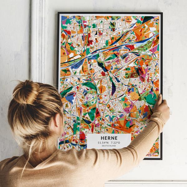 City-Map Herne im Stil Kandinsky