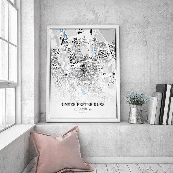 Stadtkarte Hildesheim im Stil Schwarzplan