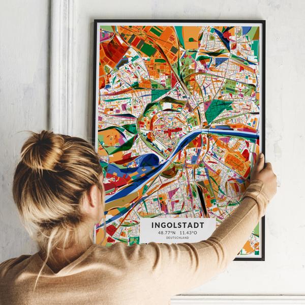 City-Map Ingolstadt im Stil Kandinsky