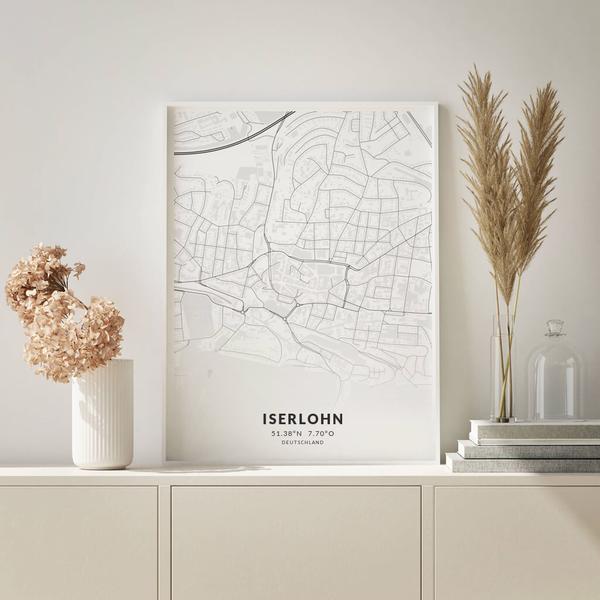 City-Map Iserlohn im Stil Elegant