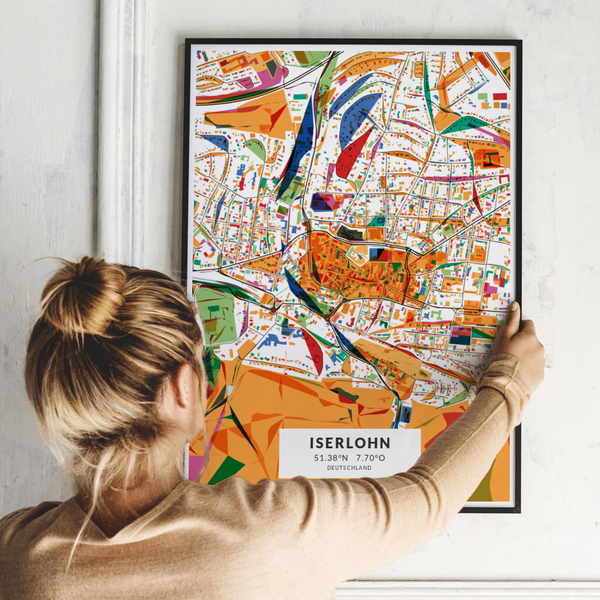 City-Map Iserlohn im Stil Kandinsky