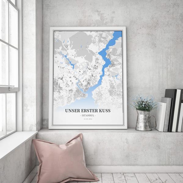 Stadtkarte Istanbul im Stil Schwarzplan