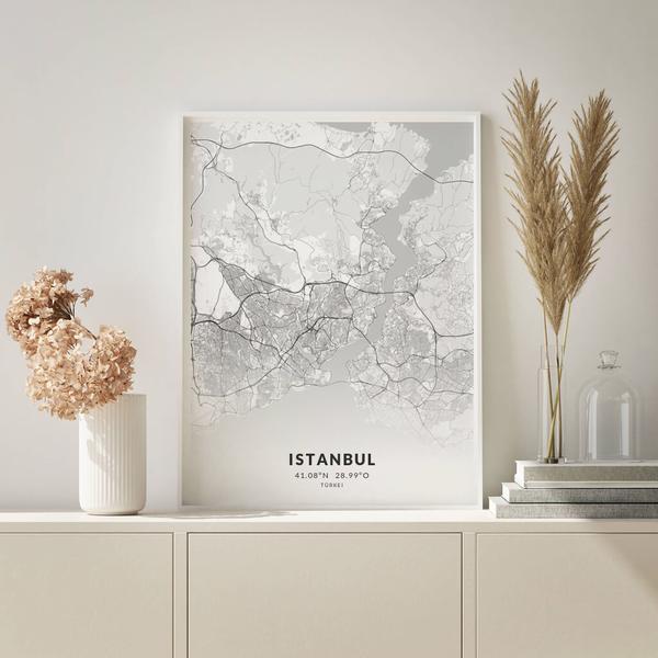 City-Map Istanbul im Stil Elegant
