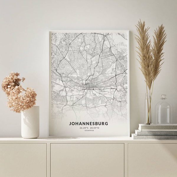 City-Map Johannesburg  im Stil Elegant