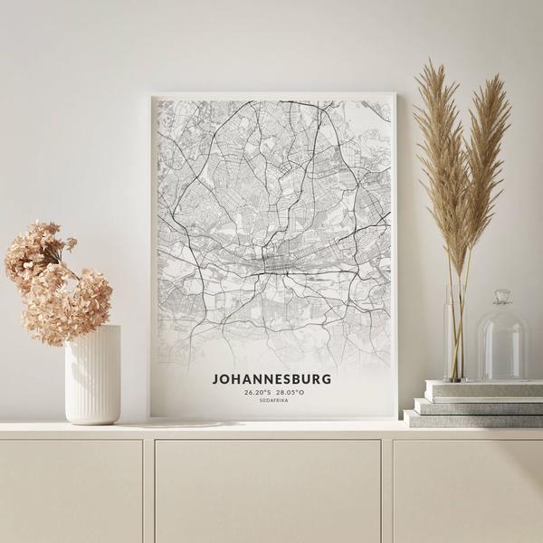 City-Map Johannesburg im Stil Elegant