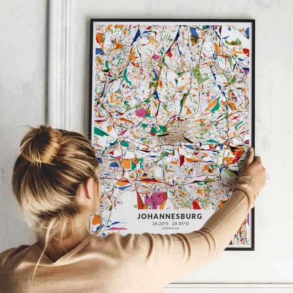 City-Map Johannesburg  im Stil Kandinsky