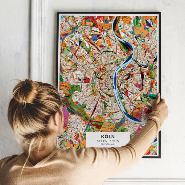 City-Map Köln im Stil Kandinsky