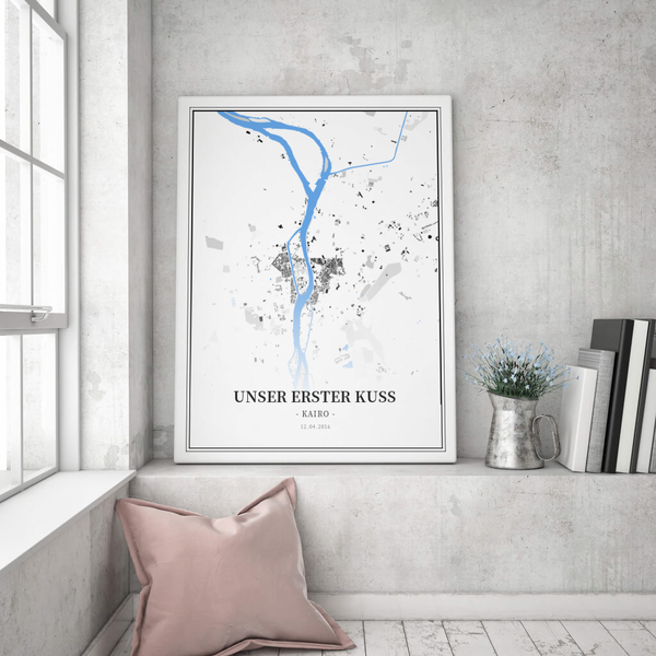 Stadtkarte Kairo im Stil Schwarzplan