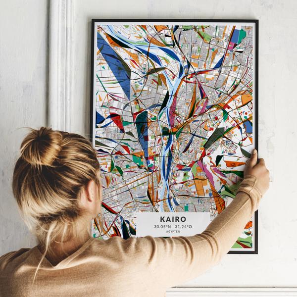City-Map Kairo im Stil Kandinsky