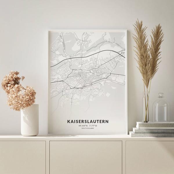 City-Map Kaiserslautern im Stil Elegant