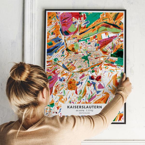 City-Map Kaiserslautern im Stil Kandinsky