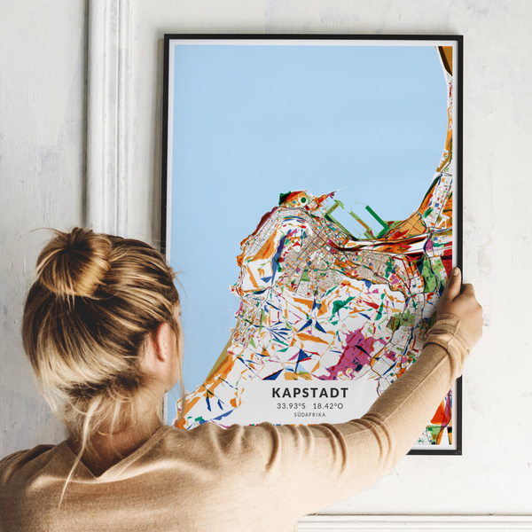 City-Map Kapstadt im Stil Kandinsky