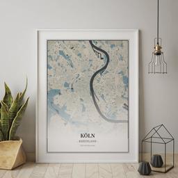 Gerahmtes Poster von Köln im Stil Hokusai