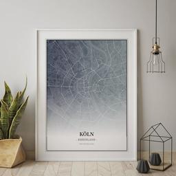 Gerahmtes Poster von Köln im Stil Titan
