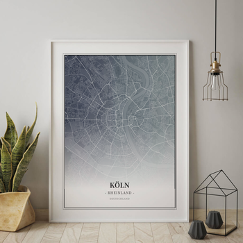 Stadtplan Köln im Stil Titan