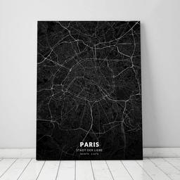 Leinwand von Paris im Stil Black