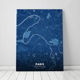 Leinwand von Paris im Stil Blaupause