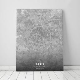Leinwand von Paris im Stil Bleistift