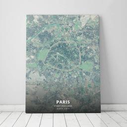 Leinwand von Paris im Stil Cozy