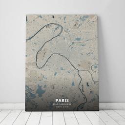 Leinwand von Paris im Stil Hokusai