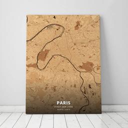 Leinwand von Paris im Stil Holz