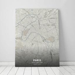 Leinwand von Paris im Stil Japandi
