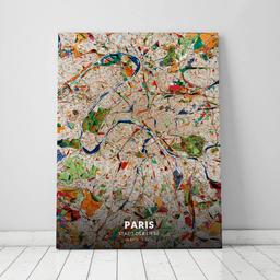 Leinwand von Paris im Stil Kandinsky