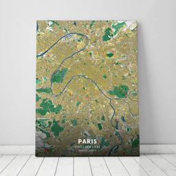 Leinwand von Paris im Stil Lichtenstein