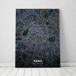 Leinwand von Paris im Stil Midnight