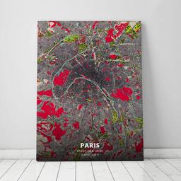 Leinwand von Paris im Stil Popart
