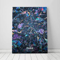 Leinwand von Paris im Stil Schwarzlicht