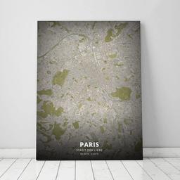 Leinwand von Paris im Stil Vintage