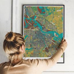 Gerahmtes Poster von Amsterdam im Stil Herbst