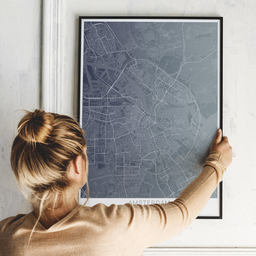 Gerahmtes Poster von Amsterdam im Stil Titan